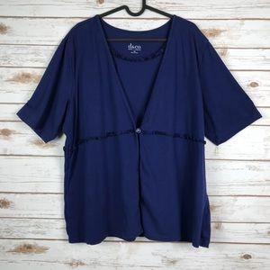 D & Co. blue short sleeve shirt (binA5)
